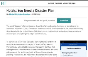 Hotels: You Need a Disaster Plan